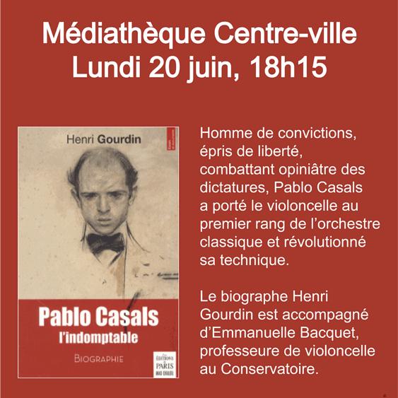 Conférence musicale à Bayonne le 20 juin 2016