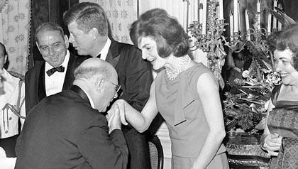 Pablo Casals et Jacqueline Kennedy