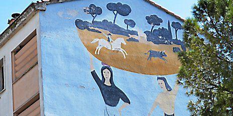 Fresque murale de Jean Hugo à Lunel